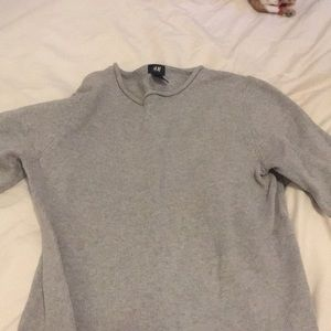 H&M size S gray sweater